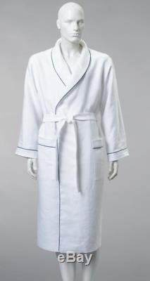 100% Linen bathrobe, Monogrammed, WHITE linen robe, Women bathrobe, Linen SPA robe