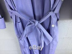 $1295 BRIONI Mens Baby Blue Cotton Bath Lounge Robe Medium EXQUISITE