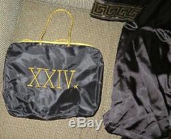 24k Black Satin Bellagio Global VIP Bruno Mars World Tour 2017 Bath Robe And Bag