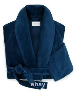 $300 NEW Frette Blue Velour Terry BATH Robe SOPHISTICATED Christmas Gift S M L