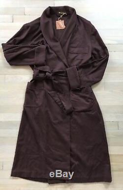 3,650 Loro Piana Maroon 100% Cashmere Bathrobe Size XL Made in Italy