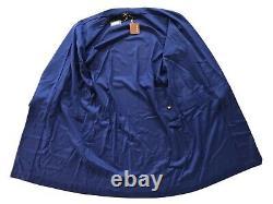 3,650 Loro Piana Navy Blue 100% Cashmere Bathrobe Size Large Made in Italy