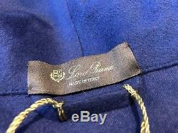 3,650 Loro Piana Navy Blue 100% Cashmere Bathrobe Size Large Made in Italy