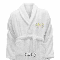 5 Hotel Edition White Set Personalized Bathrobe, Bath Towels Ref. Linen