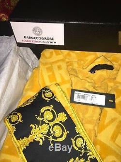 $700 VERSACE BATHROBE MEDUSA Unisex home New Box ORIGINAL ITALY CHRISTMAS GIFT