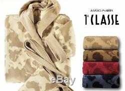 Alviero Martini 1A Classe Italy ATLAS Unisex Hooded Bathrobe Cotton, L NWT $239