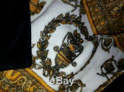 Authentic Versace Heart Baroque Bathrobe In Gold, ZACP00008, Size XL