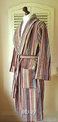 BNWT Paul Smith Signature Multi Stripe Men's Dressing Gown / Bath Robe (L)