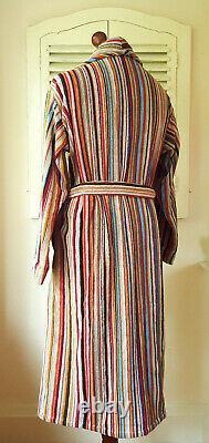 BNWT Paul Smith Signature Multi Stripe Men's Dressing Gown / Bath Robe (M)