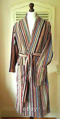 BNWT Paul Smith Signature Multi Stripe Men's Dressing Gown / Bath Robe (S)