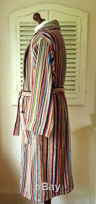 BNWT Paul Smith Signature Multi Stripe Men's Dressing Gown / Bath Robe (XL)