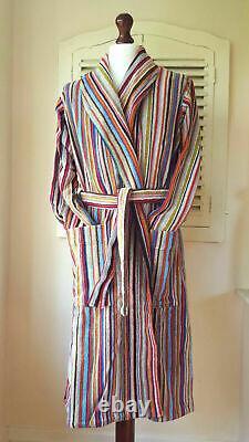 BNWT Paul Smith Signature Multi Stripe Men's Dressing Gown / Bath Robe (XS)