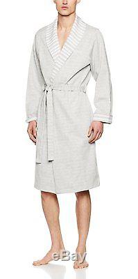 BOSS Hugo Boss Men's Shawl Collar Robe Bathrobe, Grey Medium Grey, Large
