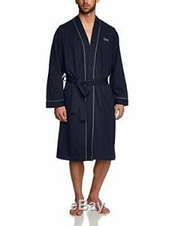 BOSS Mens Kimono BM Bathrobe, Blue Dark Blue 403, S