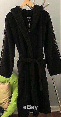 Black Emporio Armani Hooded Bathrobe. Made In Bulgaria