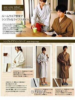 Bloom Imabari Fit-Use bathrobe unisex S (Simple Brown)