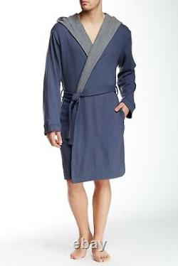 Bread & Boxers Hooded Thermal Knit Bathrobe OSFM One Size Fits Most