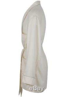Brioni men's bathrobe dressing gown pajama robe size L 100% cashmere beige