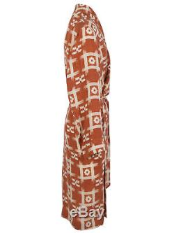 Brioni men's bathrobe dressing gown pajama robe size L 100% rayon viscose
