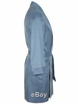 Brioni men's bathrobe dressing gown pajama robe size L 100% silk geometric