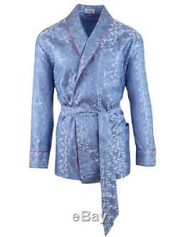 Brioni men's bathrobe dressing gown pajama robe size L 100% silk paisley