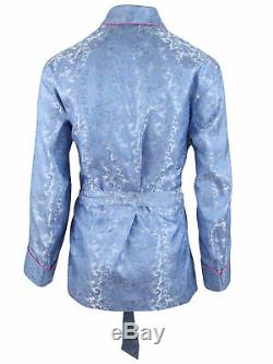 Brioni men's bathrobe dressing gown pajama robe size L 100% silk paisley