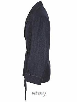 Brioni men's bathrobe dressing gown pajama robe size L 100% silk pockets lacing