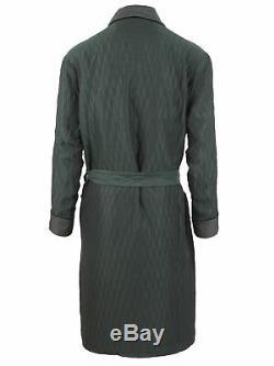 Brioni men's reversible bathrobe dressing gown pajama robe size L 100% cotton