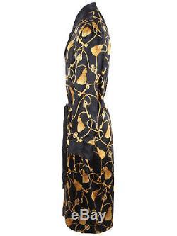 Brioni men's reversible bathrobe dressing gown pajama robe size XL 100% silk