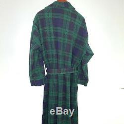Christian dior Robe de Chambre Vintage Plaid Tartan Belted One Size Bathrobe