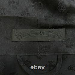 Chrome Hearts CH + Monogram Silk Robe Black Size S Bathrobe