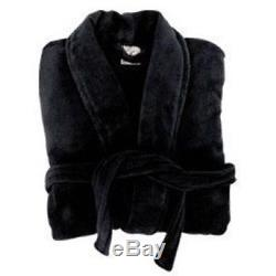 Clearance 10 size large micro fibre luxury black bath robe unisex