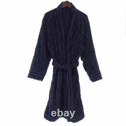 DIOR 21ss OBLIQUE jacquard logo pile gown bathrobe Navy