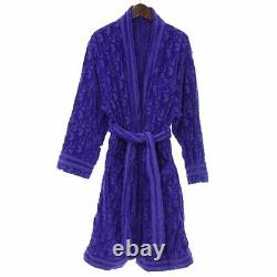 DIOR 21ss OBLIQUE jacquard logo pile gown bathrobe blue