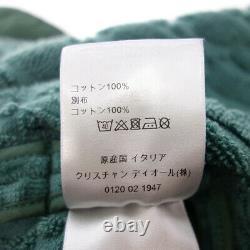 DIOR 21ss OBLIQUE jacquard logo pile gown bathrobe green