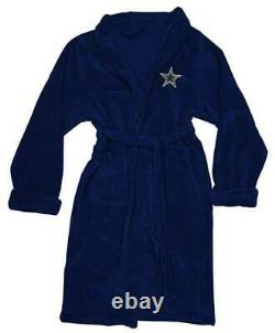 Dallas Cowboys L/XL Silk Touch Men's Bath Robe with Towel & Sandals (11-12)