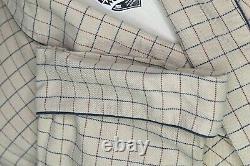 Daniel a. Hanson Beige With Red & Blue Geometric Made in England Bath Robe XL