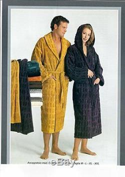 Deluxe Soft Carrara 100%Cot Velour -Terry Towel Collar Bathrobe Men's & Women's