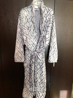 Devonshire Collection Check Trim Soft Bamboo Bathrobe Men's One Size