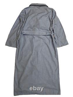 EMMA WILLIS Small Blue Cashmerello Man's Gown Bath Robe Cotton Cashmere England