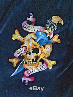 Ed Hardy boxing bath robe / dressing gown reversible authentic item one size