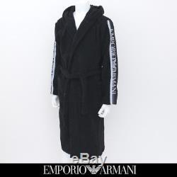 Emporio Armani Bath robe Black Logo Bathrobe Towelling Dressin TOWEL BADJAS ACCA