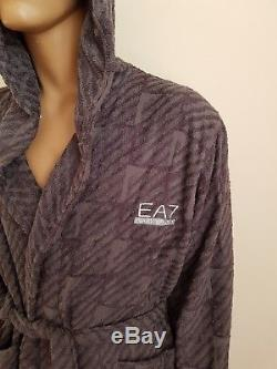 Emporio Armani Bathrobe Men's Grey Robe Bath Triad Heather