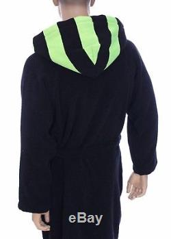 Emporio Armani Men Bathrobe Black Swimmer Robe Towelling Dressing Size S, M