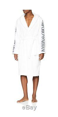 Emporio Armani Men's Bathrobe White (Bianco 00010) Large