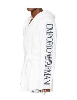 Emporio Armani Men's Bathrobe White (Bianco 00010) Large