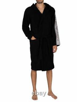 Emporio Armani Men's Hooded Bathrobe, Black