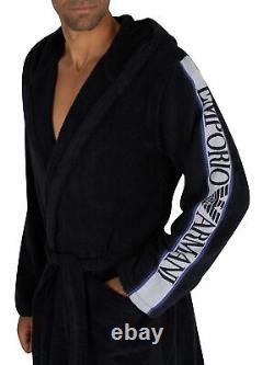 Emporio Armani Men's Woven Bathrobe, Blue