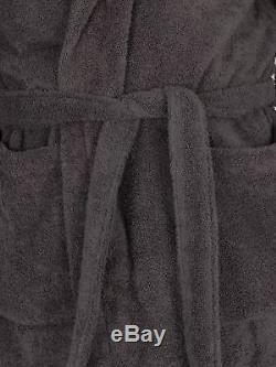Emporio Armani Men's Woven Bathrobe, Grey