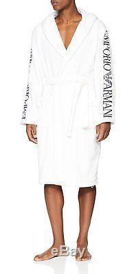 Emporio Armani Underwear Mens 110799 Bathrobe, White Bianco 00010, Medium